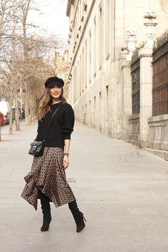 Midi Skirt With Geometrical Print