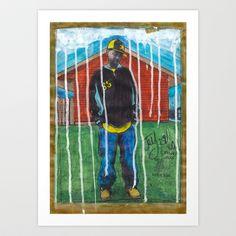 DEAD RAPPERS SERIES - J. Dilla Art Print by Ibbanez - #rapstar #hiphop #rap #streetculture #streetart #artprint #jdilla