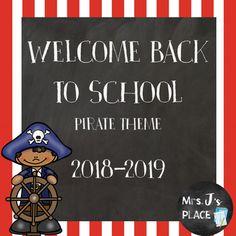 Pirate theme open house back to school powerpoint template welcome back to school powerpoint pirate theme toneelgroepblik Images