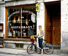 Shopping by bike in France...