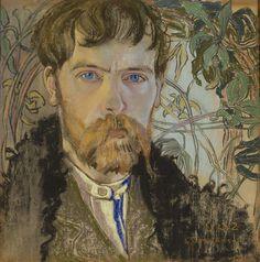 Stanisław Wyspiański, Autoportret w serdaku  |  1904, pastel, papier, 35 × 35 cm, Muzeum Narodowe w Warszawie