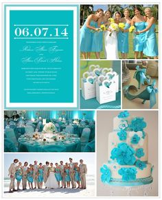 Bright Aqua Is Perfect For A Spring Or Summer Wedding Love The Bold Color Block
