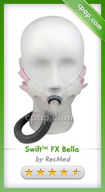Packaged with an updated version of the soft silicone Swift FX for Her headgear and the breakthrough ear loops plus three sizes of nasal pillows, the Bella has options other systems cannot match. Click on the image above for more information!