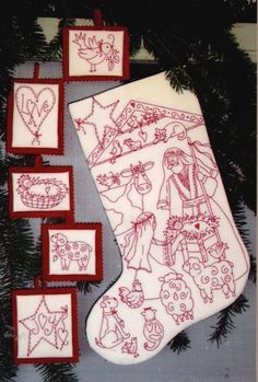redwork ornaments, so love this... guess it is another one that I will have to figure out. No longer available.