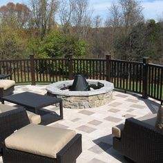 A multi-level deck with a pavilion and Silca paver system.