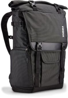 TCDK-101 Thule Covert DSLR Rolltop Backpack (Dark Shadow) - http://www.majestyreviews.com/tcdk-101-thule-covert-dslr-rolltop-backpack-dark-shadow/