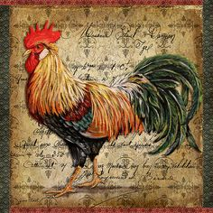 I uploaded new artwork to fineartamerica.com! - 'Proud Rooster-c' - http://fineartamerica.com/featured/proud-rooster-c-jean-plout.html via @fineartamerica