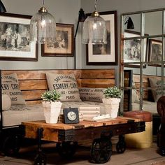 diy rustic industrial seating & Industrial chic room design via Pure Home Source by acecae The post Fifteen Ideas For Decorating Rustic Chic & Rustic Crafts & Chic Decor appeared first on George Garden Services. Farmhouse Decor Living Room, Farm House Living Room, Room Design, Interior, Industrial Design Furniture, Industrial Livingroom, Industrial Living Room Design, Industrial Style Living Room, Interior Design