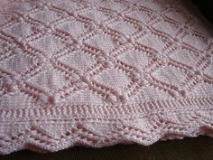 Ravelry: Project Gallery for Estonian Princess Baby Blanket pattern by Sami Kaplan. Baby Knitting Patterns, Baby Patterns, Stitch Patterns, Crochet Patterns, Blanket Patterns, Crochet Borders, Crochet Squares, Design Patterns, Knitted Baby Blankets