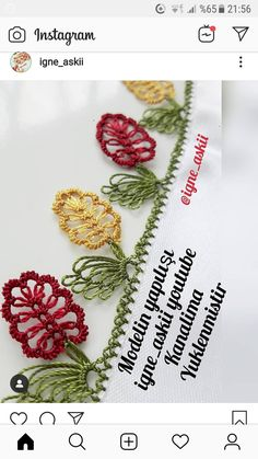 Hand Embroidery Patterns, Embroidery Stitches, Knitting Patterns, Paracord Knots, Types Of Stitches, Needle Lace, Tatting, Knit Crochet, Craft Projects