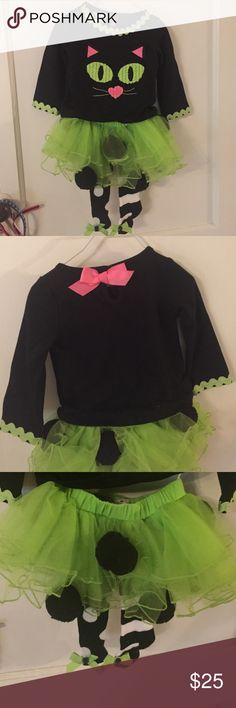 NWOT Mudpie Cat Tutu Outfit NWOT super cute outfit thy would also make a great costume! Tights are made onto tutu. Mud Pie Costumes Halloween