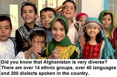 Did you know that Afganistan is very diverse?