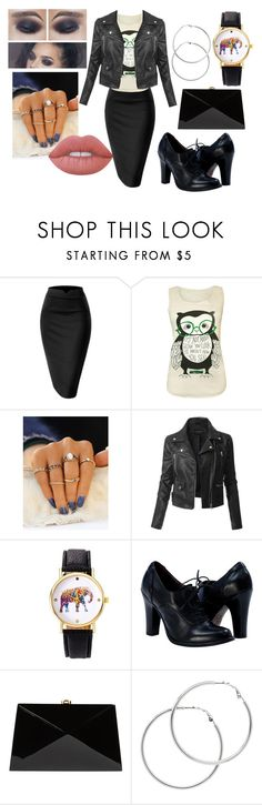 """""""Going out"""" by seka501 on Polyvore featuring WearAll, LE3NO, Rocio, Melissa Odabash and Lime Crime"""