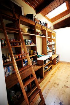 I am obsessed with Ree Drummond (i.e. The Pioneer Woman) and these are pictures from her blog (www.thepioneerwoman.com) such an organized use of space for a pantry