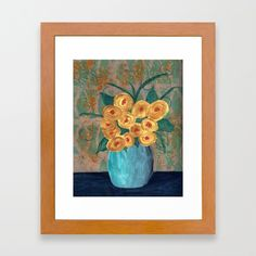 """Yellow roses in vase - bedroom wall art , home decor, 8"""" x 10"""" or 11"""" x 14"""" prints available."""