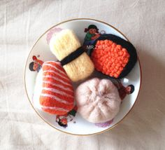 Needle felted Sushi Brooch/ Pin Food Brooch by MrZhuo on Etsy