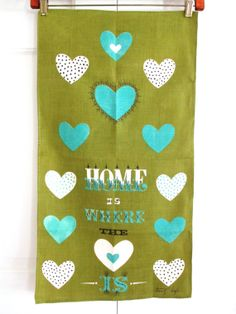 Vintage Towel Tammis Keefe Home Is Where Heart Is at NeatoKeen
