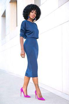 Shop Dresses at Classy Dress, Classy Outfits, Stylish Outfits, Work Fashion, Fashion Looks, Moda Afro, Dress Outfits, Fashion Outfits, Dress Fashion