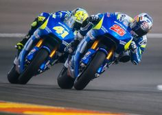 Suzuki MotoGP Ready for 2015 Sepang Test Suzuki MotoGP's Aleix Espargaro and Mavrick Vinales are ready to get back on track with the updated GSX-RR during a four-day pre-season test at Sepang International Circuit. Velentino Rossi, Sepang, Vinales, Gsxr 1000, Suzuki Gsx, Racing Motorcycles, Sportbikes, Road Racing, Grand Prix