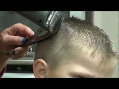 a very good video on how to style boys hair..and shows how to cut boys short haircut with clipper and scissors. http://www.easy-hairstyles.com/77/boys-hairstyles-haircuts/