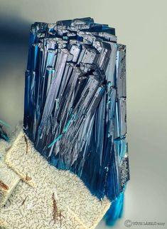 Clinoclase crystals from Grube Clara mine, Germany.