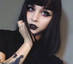 WEBSTA @ foxfell - Here's the look you were asking about the other day! On my lips I'm wearing the shade Purgatory by @blackmooncosmetics ✨they have the most unique collection and you should totally check their page out if you're into bold shades