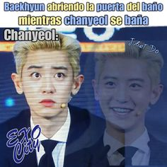 Exo Ot12, Chanbaek, Chanyeol, Yolo, Memes Funny Faces, Exo Memes, Bts And Exo, Kpop, Monsta X