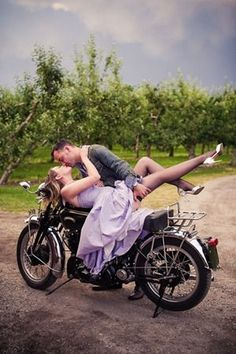 This is too staged to work in my Biker's Kiss series (a romance series that features - what else, bikers and kissing!) but I love the colors. www.TraceyCramerKelly.com
