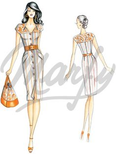 Marfy dress pattern -- this wouldn't be too hard to replicate using men's dress shirts