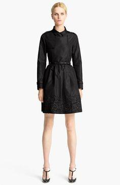 Valentino - Trench Coat . gathered skirt . breathtaking LACE Hem . SILK : POLY FAILLE * BLACK *      http://shop.nordstrom.com/s/valentino-lace-hem-faille-trench-coat/3518986?origin=wishlist