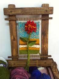 Image result for telares decorativos arboles Loom Weaving, Tapestry Weaving, Hand Weaving, Band Kunst, Yarn Thread, Ribbon Art, Sewing Art, Tear, Weaving Patterns
