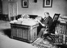 Grover Cleveland working