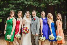colorful bridesmaid ideas | CHECK OUT MORE IDEAS AT WEDDINGPINS.NET | #bridesmaids