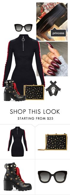 """Untitled #89"" by bree-mideast on Polyvore featuring Alice + Olivia, Gucci and Smith & Wesson"