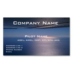 Commercial plane in sky aviation business cards pinterest business cards for pilots and aviators business card aviation pilot colourmoves