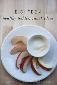 18 Healthy Toddler Snack Ideas - Life Could Be a Dream