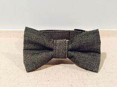 Dark Grey Denim Dog Collar with optional by SpoiledPawsBowtique