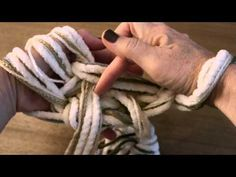 How to Arm Knit a Purl Stitch with @Vickie Howell - YouTube