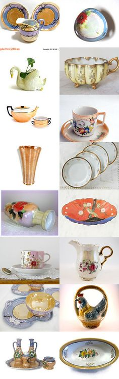 Luxurious Lustreware  by Betty J. Powell on Etsy--Pinned with TreasuryPin.com