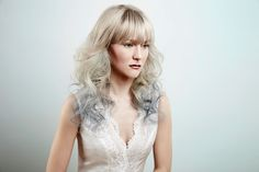 """""""Modulus"""" by MOB SALONS #blonde #ombre #fringe #hairstyle #curls"""