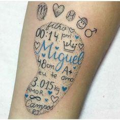 Tattoo pezinho bebe