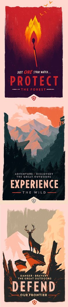 I don't think the line is well turned, but the design and illustration are great. Olly Moss - Firewatch Promotional Posters