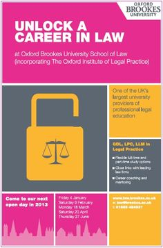 Oxford Brookes University School Of Law #openday