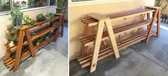 Plant Stand | Redwood | Based on a Step Ladder