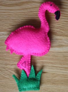 Pretty Flamingo! A custom order that donned a Christmas hat in December and was very popular! #JBLovecraft