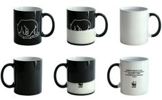 WWF : Heat sensitive mugs