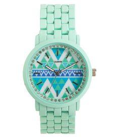 Pavé Color Metal Watch -