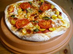 Transform a terra-cotta saucer from the garden store into a pizza stone