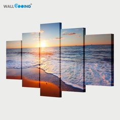 Still living with your parents? its time to pack up and Original Price US $27.60 Sale Price US $17.94 5 piece canvas art paint sunset seascape Beach decorative canvas wall painting Modular pictures oil paintings setting spray #Painting#Calligraphy