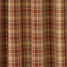 MILLSBORO Shower Curtain Country Red//Navy//Tan Country Log Cabin Homespun Plaid